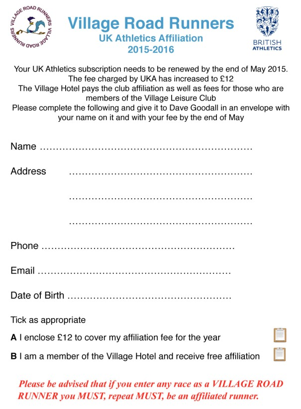 VRR UKA membership form 2015.pages