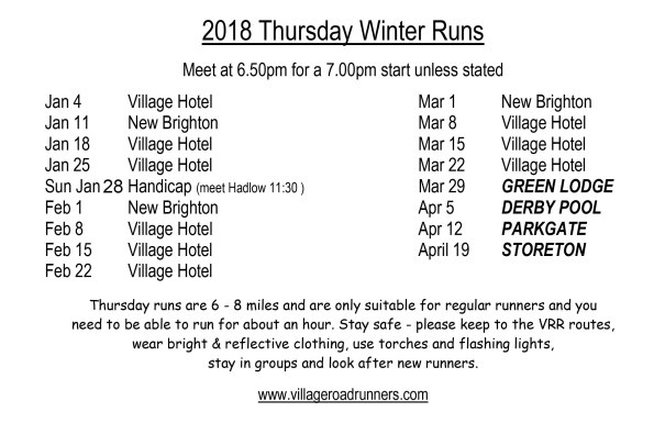 Microsoft Word - 1 First 2018 Thursday Winter Runs for Tony.doc